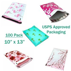 """Poly Mailers 10"""" x 13"""" - 100 Pack - USPS Approved"""